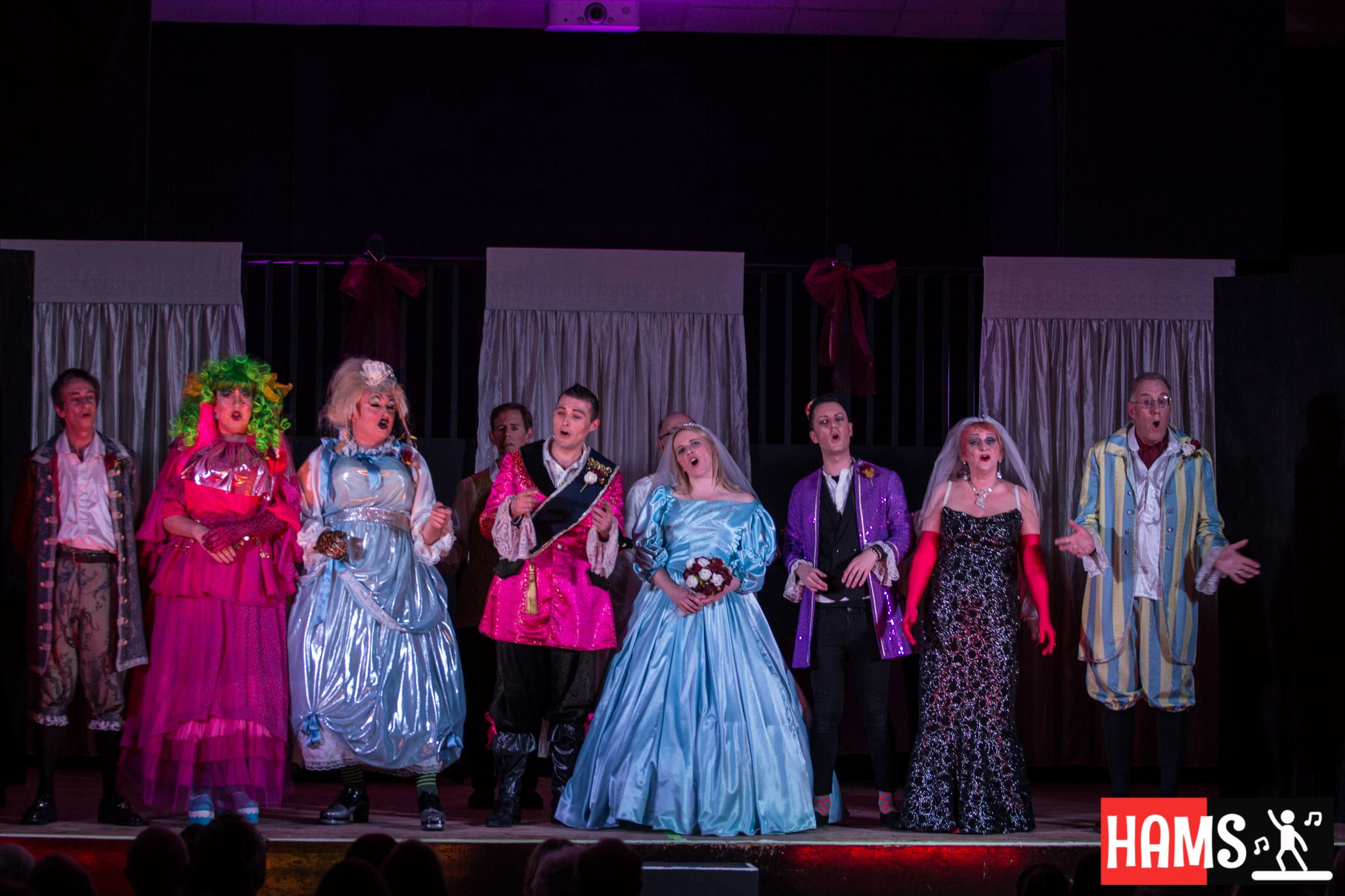 HAMS Productions 2017 cast on stage