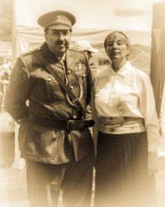 The Captain and Edith at the fete